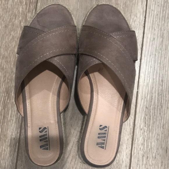 3474a086daf AMS Shoes - AMS Platform Espadrille Sandals